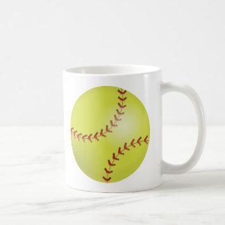 Softball Classic White Coffee Mug
