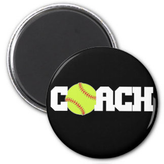 Softball Coach 2 Inch Round Magnet