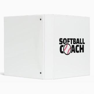 Softball coach 3 ring binder