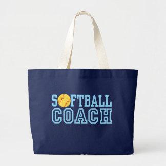 Softball Coach Jumbo Tote Bag