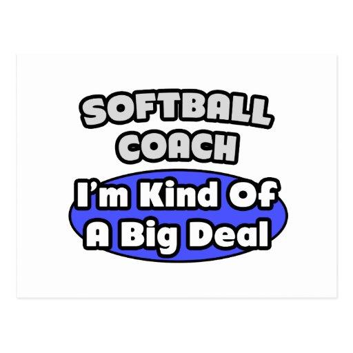 Softball Coach...Big Deal Postcard