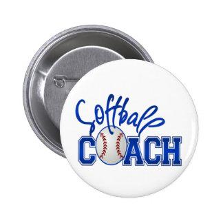 Softball Coach Button