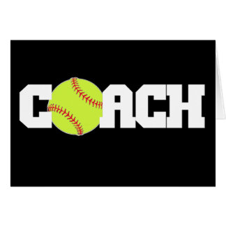 Softball Coach Card