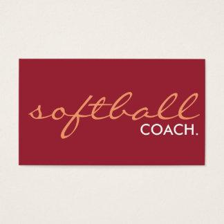 softball coach. (color customizable) business card