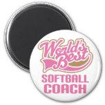 Softball Coach Gift Fridge Magnets