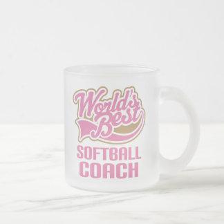 Softball Coach Gift Frosted Glass Coffee Mug