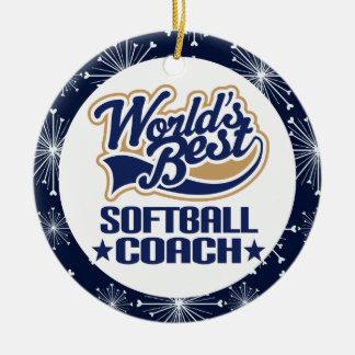 Softball Coach Gift Ornament