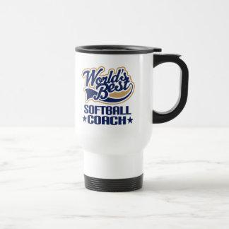 Softball Coach Gift Travel Mug