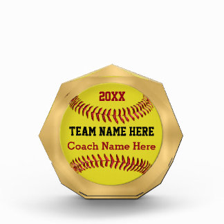 Softball Coach Gifts Award YEAR, TEAM, Coach NAME