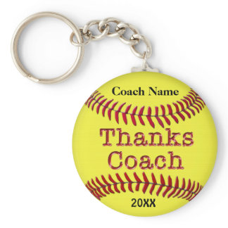 Softball Coach Gifts Ideas with NAME and YEAR Keychain