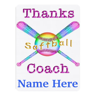 Softball Coach Gifts Personalized Thank You Cards