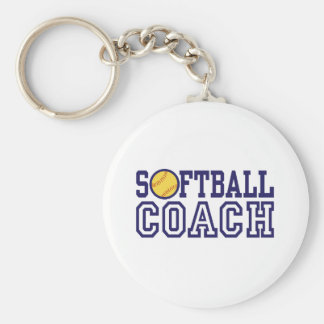 Softball Coach Keychain