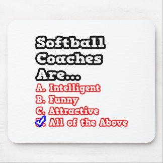 Softball Coach Quiz...Joke Mouse Pad