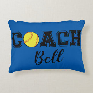 Softball coach thank you gift - Batter Up! Accent Pillow