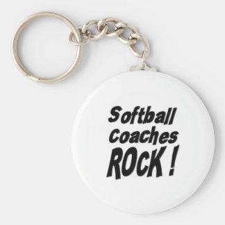Softball Coaches Rock! Keychain