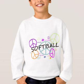 Softball Colored Peace Signs Sweatshirt