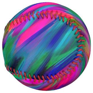 Softball Colorful digital art splashing