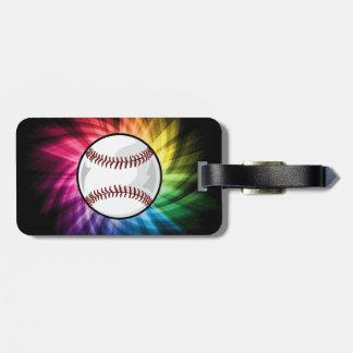 Softball colorido Béisbol Etiqueta De Equipaje