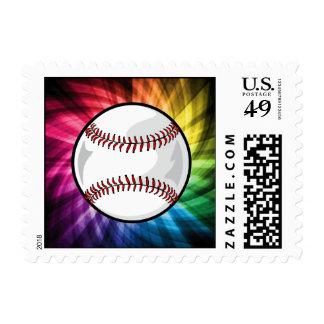 Softball colorido; Béisbol Timbre Postal