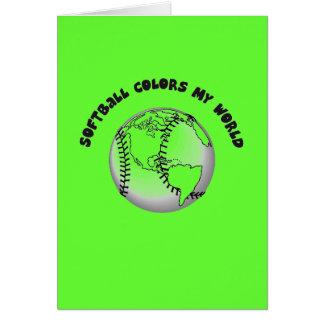 Softball Colors my World Card