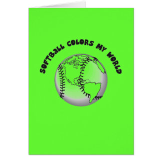 Softball Colors my World Stationery Note Card