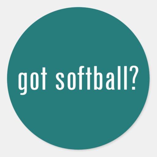 ¿softball conseguido? pegatinas redondas