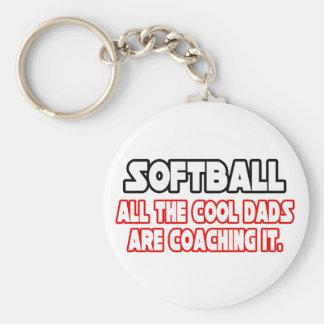 Softball...Cool Dads Keychain