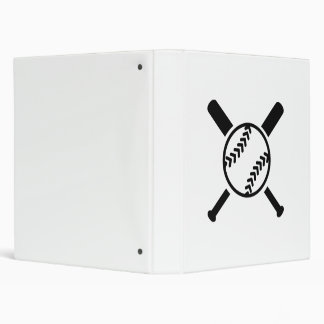 Softball crossed bats binder