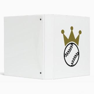 Softball crown 3 ring binder