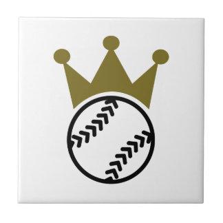 Softball crown ceramic tile