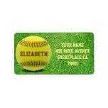 Softball Custom Ball Address Label