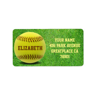 Softball Custom Ball Address Label