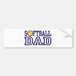 Softball Dad Bumper Sticker