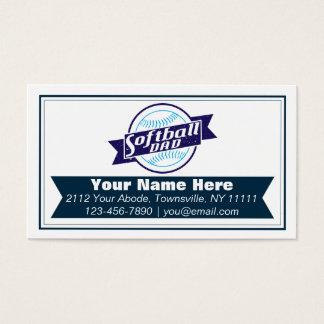 Softball Dad Customizable Business Cards
