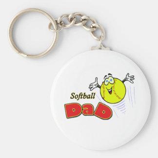 Softball Dad Keychain