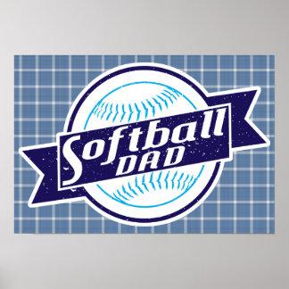 Softball Dad Poster Print