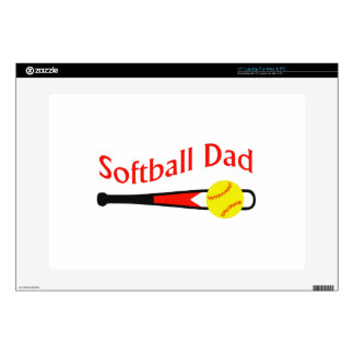 SOFTBALL DAD DECAL FOR LAPTOP