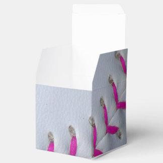 Softball de costura rosado cajas para regalos de boda