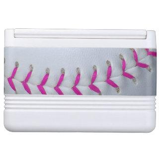 Softball de costura rosado refrigerador igloo