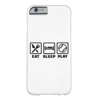 Softball de Eat Sleep Play Funda Barely There iPhone 6
