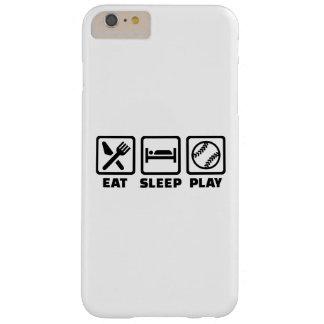 Softball de Eat Sleep Play Funda Barely There iPhone 6 Plus