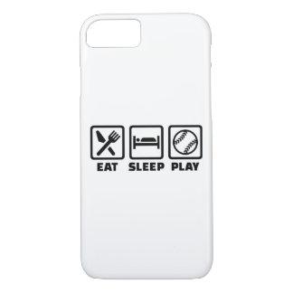 Softball de Eat Sleep Play Funda iPhone 7