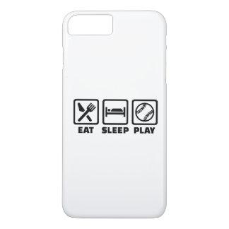 Softball de Eat Sleep Play Funda iPhone 7 Plus