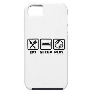 Softball de Eat Sleep Play Funda Para iPhone SE/5/5s