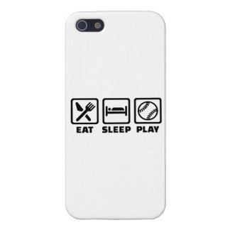 Softball de Eat Sleep Play iPhone 5 Funda