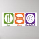 Softball de Eat Sleep Play Posters