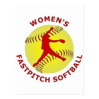 Softball de Fastpitch de las mujeres Postal
