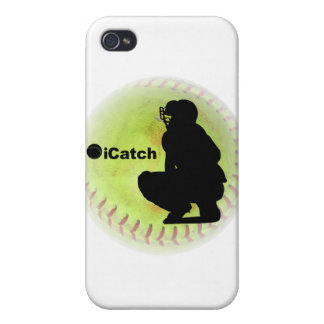 softball de Fastpitch del iCatch iPhone 4 Carcasa
