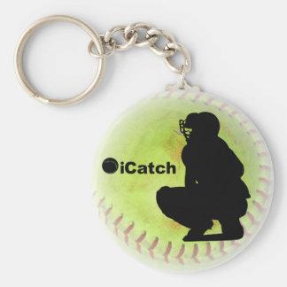 softball de Fastpitch del iCatch Llavero Redondo Tipo Pin