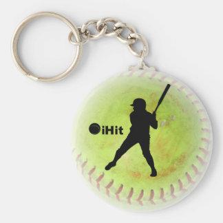 softball de Fastpitch del iHit Llaveros Personalizados